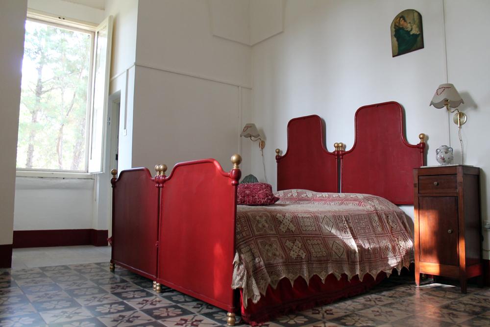 camera matrimoniale in villa salento